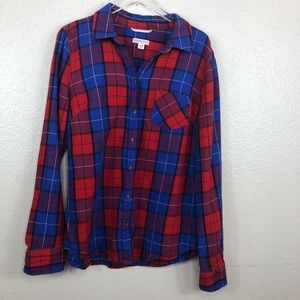 Plaid Flannel  Button Up Blouse | Merona